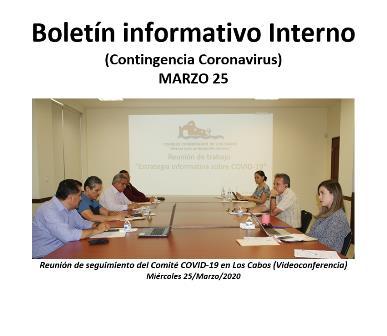 Boletín informativo Interno (Contingencia Coronavirus) MARZO 25