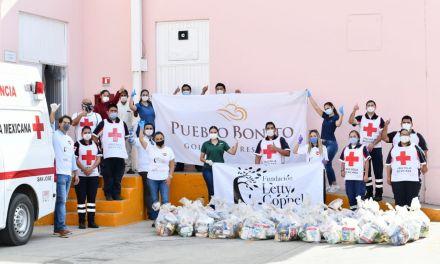 Fundación de Pueblo Bonito dona 2,000 despensas más a Alianza Comunitaria de BCS