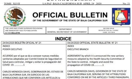 Boletín Oficial (Official Bulletin) Emergency Declaration – Declaración de Emergencia