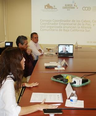 El Consejo Coordinador de Los Cabos (CCC), el Consejo Coordinador Empresarial de La Paz (CCE) y la sociedad civil organizada anuncian la conformación de una Alianza Comunitaria de Baja California Sur (ACBCS) que consiste en una Red de alcance estatal como una respuesta de la sociedad civil y empresarios ante emergencias catastróficas.