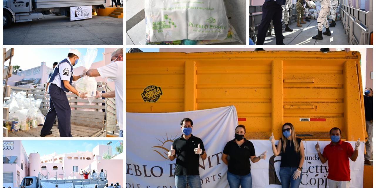 Grupo Coppel entregó ésta semana a la alianza Comunitaria dos mil despensas