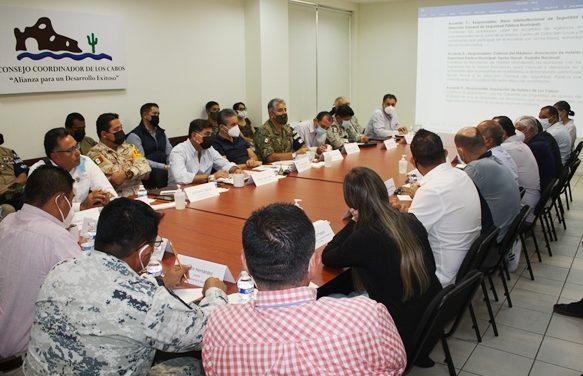 Mesa de Seguridad Estatal se reúne con el Consejo Coordinador de Los Cabos